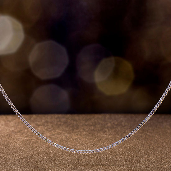Inspired By You Plus_Size Sterling Silver 20 Inch Solid Curb Chain Necklace