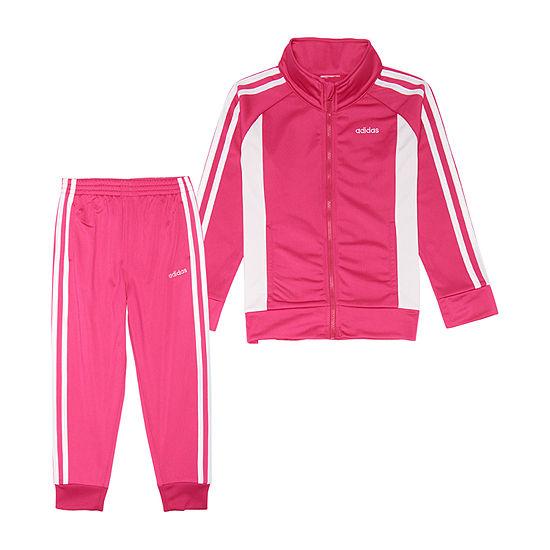 adidas Little Kid Girls 2-pc. Logo Track Suit