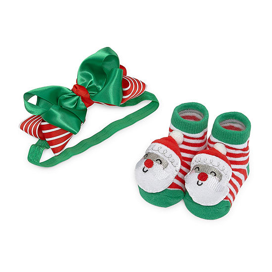 Okie Dokie Christmas Baby Girls 2-pc. Baby Hat