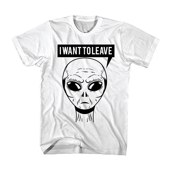 Mens Crew Neck Short Sleeve Area 51 Graphic T-Shirt