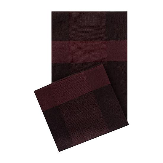 Van Heusen® Burgundy Plaid Scarf