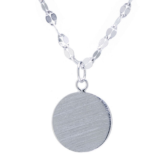 Silver Treasures Sterling Silver 16 Inch Link Pendant Necklace