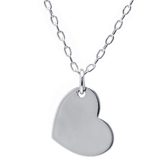 Silver Treasures Sterling Silver 16 Inch Cable Pendant Necklace