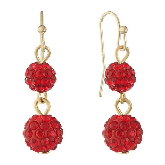 Liz Claiborne 1 Pair Red Drop Earrings