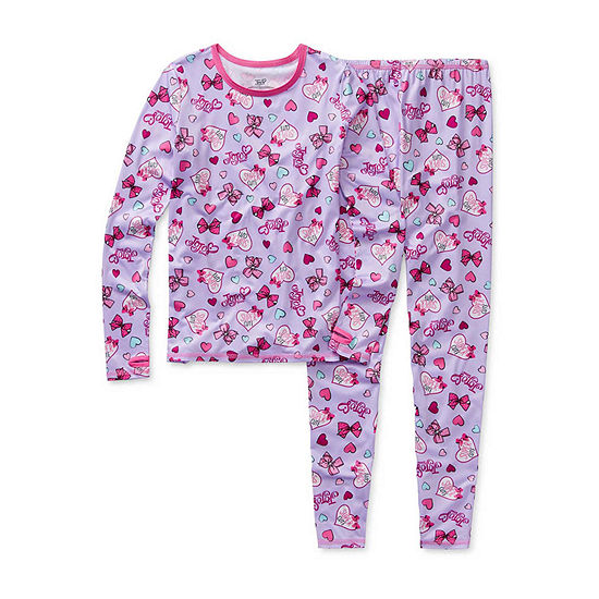 Cuddl Duds Girls Crew Neck Long Sleeve Thermal Set Preschool / Big Kid