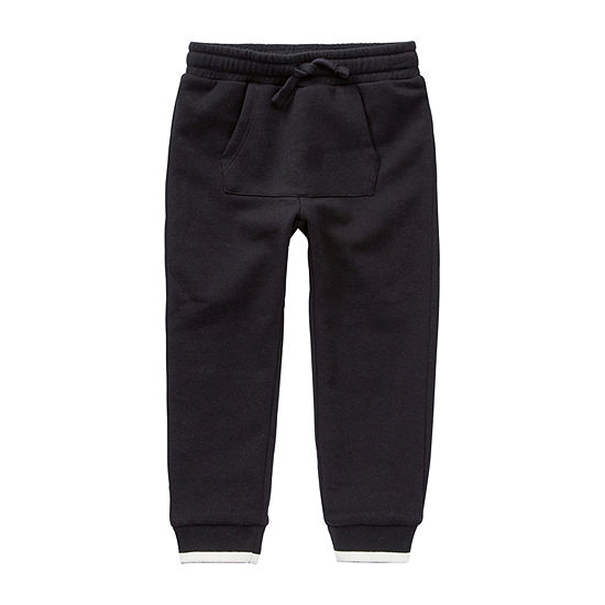 Okie Dokie Boys Fleece Mid Rise Cuffed Jogger Pant - Toddler