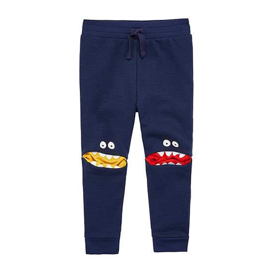 Okie Dokie Fleece Toddler Boys Mid Rise Cuffed Jogger Pant