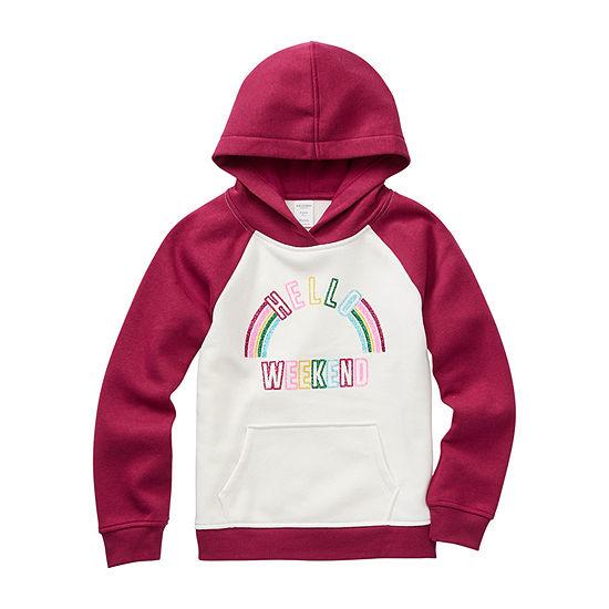 Arizona Girls Drop Shoulder Sleeve Hoodie - Preschool / Big Kid
