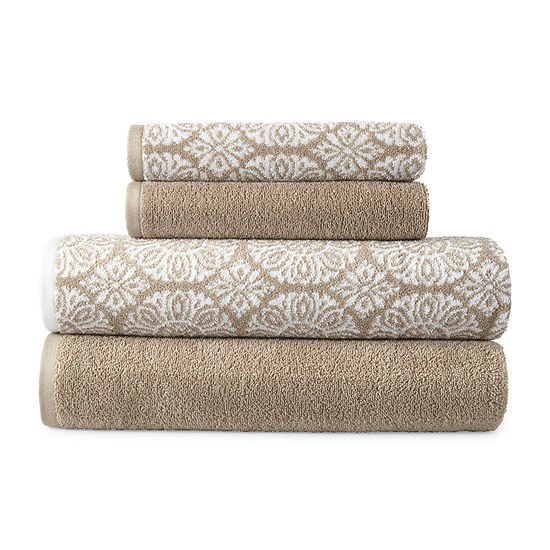 JCPenney Home Kyoto 4-pc. Medallion Bath Towel Set