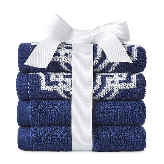 JCPenney Home Moroccan Tile 4-pc. Washcloth