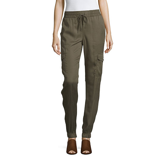 a.n.a Womens Mid Rise Cargo Pant