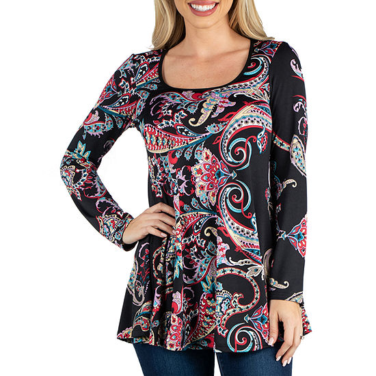 24/7 Comfort Apparel Long Sleeve Tunic