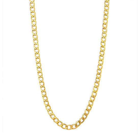"14K Gold 18-24"" 5mm Hollow Curb Chain Necklace"