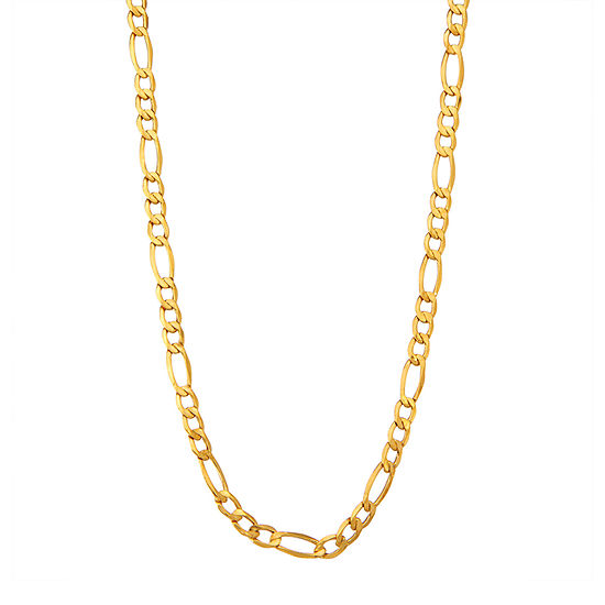 """14K Gold 18-24"""" 5mm Hollow Figaro Chain Necklace"""