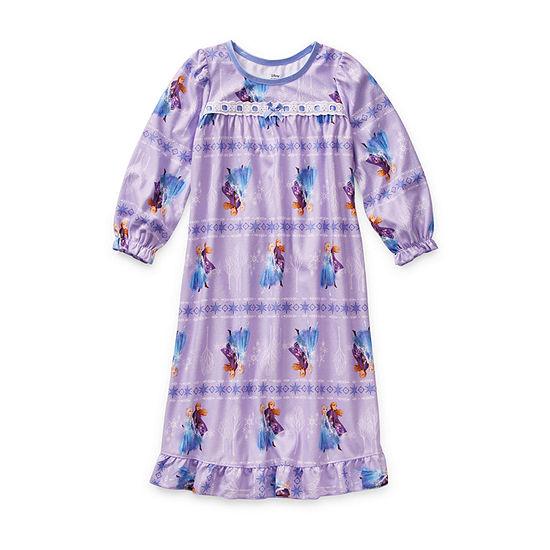 Disney Girls Long Sleeve Nightgown Frozen 2
