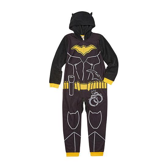 Boys Microfleece Long Sleeve One Piece Pajama Batman