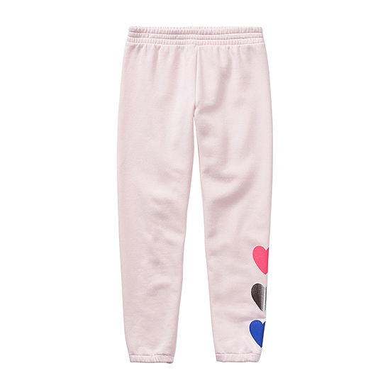 Xersion Cotton Fleece Little & Big Girls Cinched Jogger Pant