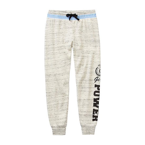 Inspired Hearts - Little Kid / Big Kid Girls Mid Rise Straight Jogger Pant