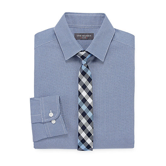 Van Heusen Long Sleeve Flex Shirt + Tie Set - Boys 4-20 - Regular
