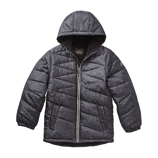 Pacific Trail - Boys Hooded Fleece Lined Heavyweight Puffer Jacket-Big Kid