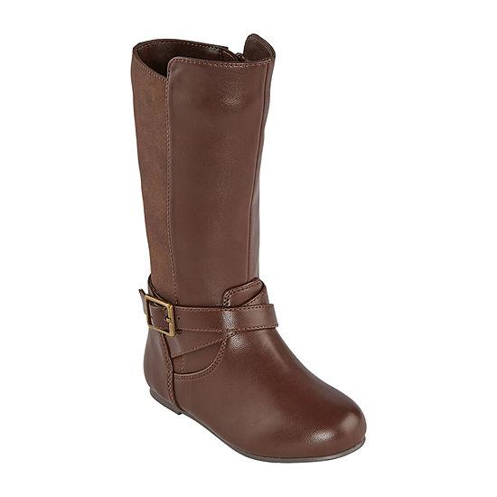 Okie Dokie Toddler Girls Lil Samantha Riding Boots Block Heel