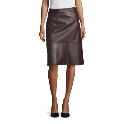 Liz Claiborne Womens Midi Flared Skirt