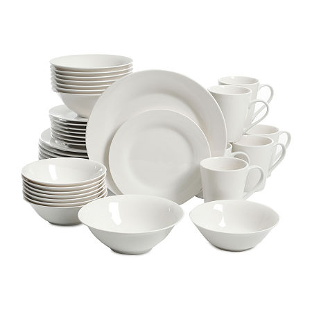 JCPenney Home Collection 40-pc. Dinnerware Set, One Size , White