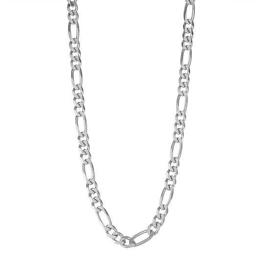 Sterling Silver Solid Figaro Chain Necklace