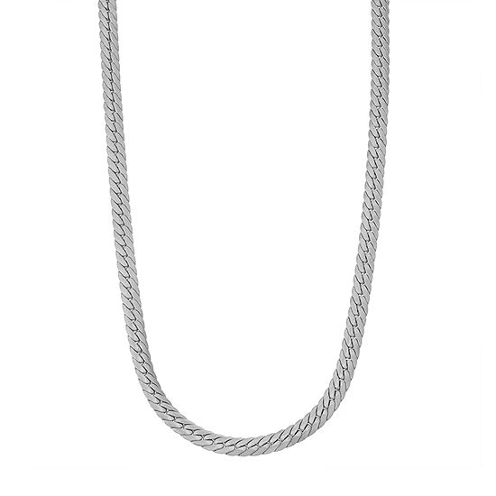 Sterling Silver 22 Inch Solid Herringbone Chain Necklace