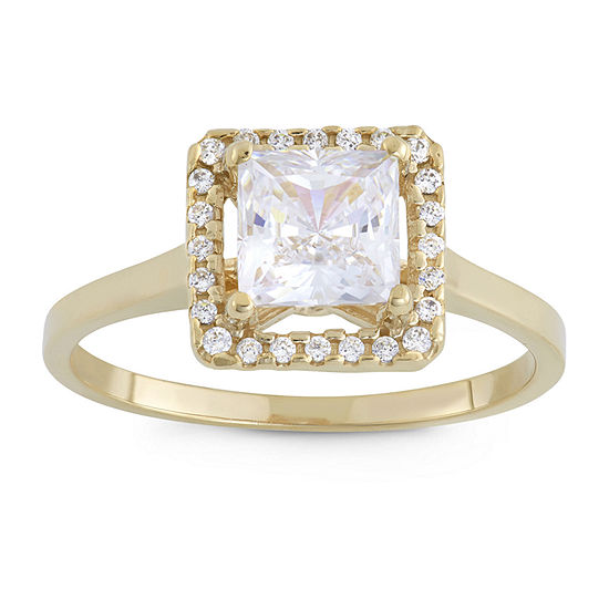 Womens 2 1/4 CT. T.W. White Cubic Zirconia 10K Gold Engagement Ring