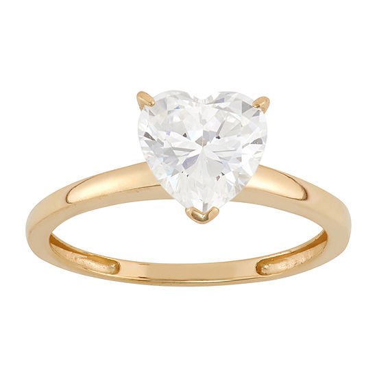Womens 3 CT. T.W. White Cubic Zirconia 14K Gold Engagement Ring