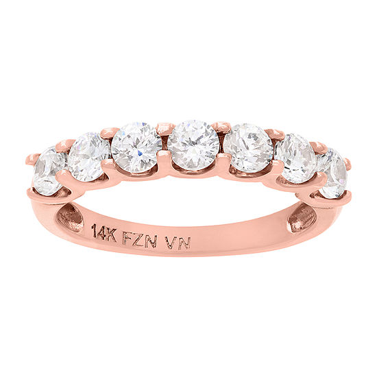 Womens 2 CT. T.W. White Cubic Zirconia 10K Rose Gold Band