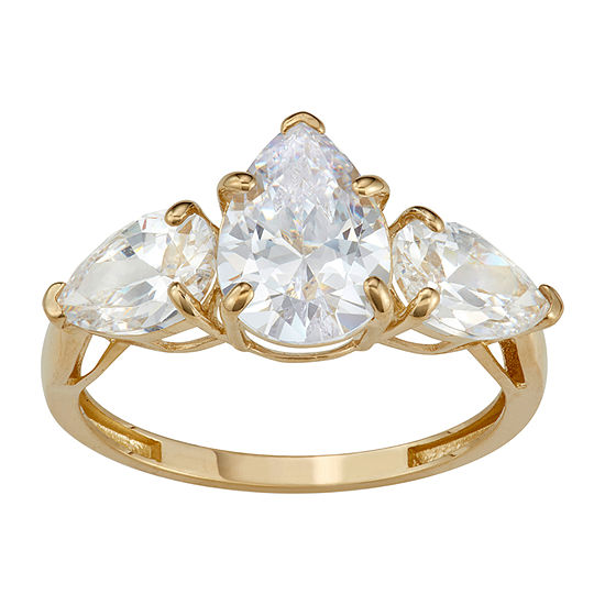 Womens 5 3/4 CT. T.W. White Cubic Zirconia 10K Gold Engagement Ring