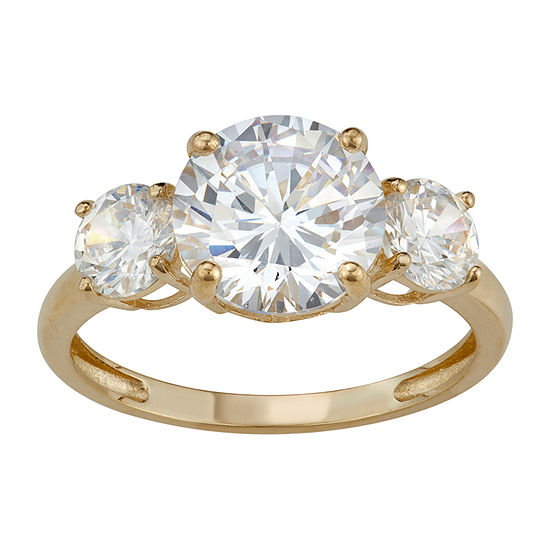 Womens 6 CT. T.W. White Cubic Zirconia 10K Gold Engagement Ring