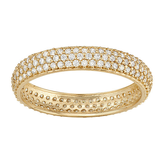 3.5MM 1 1/2 CT. T.W. White Cubic Zirconia 10K Gold Band