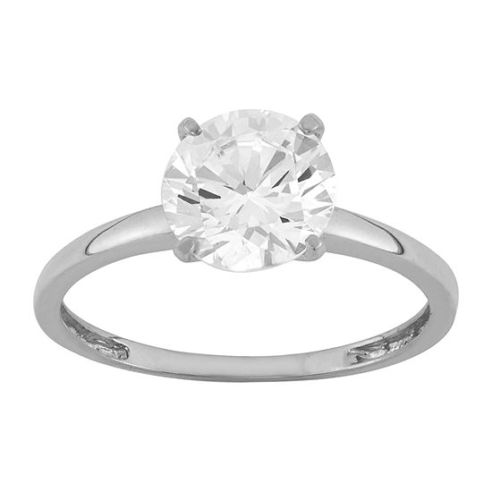 Womens 3 1/2 CT. T.W White Cubic Zirconia 14K White Gold Engagement Ring