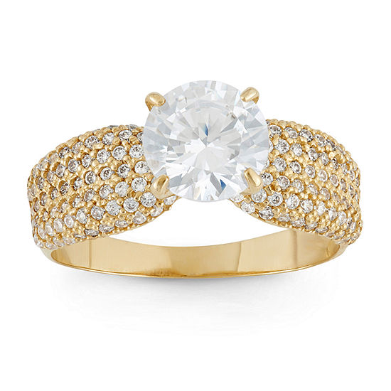 Womens 5 CT. T.W. White Cubic Zirconia 10K Gold Engagement Ring