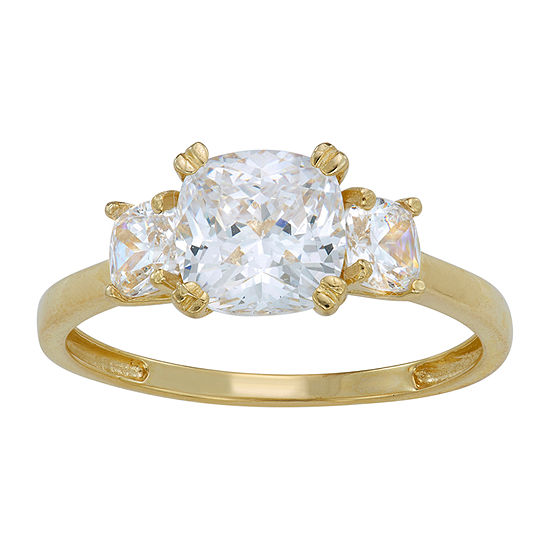 Womens 1 3/4 CT. T.W. White Cubic Zirconia 10K Gold Engagement Ring