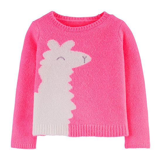 Carter's Girls Crew Neck Long Sleeve Sweatshirt - Baby