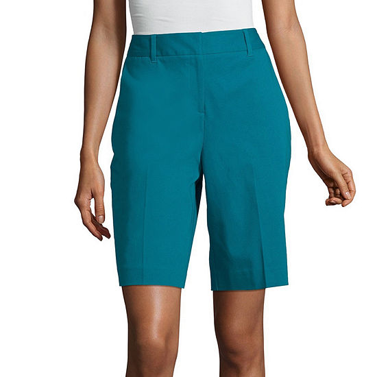 "Worthington Womens Mid Rise 9"" Bermuda Short"