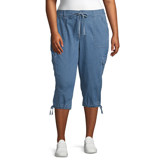St. John's Bay Mid Rise Plus Cropped Pants