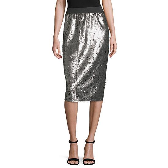 Worthington Womens Midi Pencil Skirt