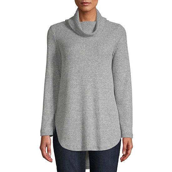 St. John's Bay Womens Turtleneck Long Sleeve Tunic Top