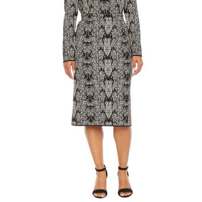 Worthington Womens Mid Rise Midi Pencil Skirt