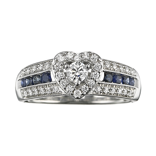 Jcpenney Gift Registry Wedding: I Said Yes 3/8 CT TW Certified Diamond & Sapphire Ring