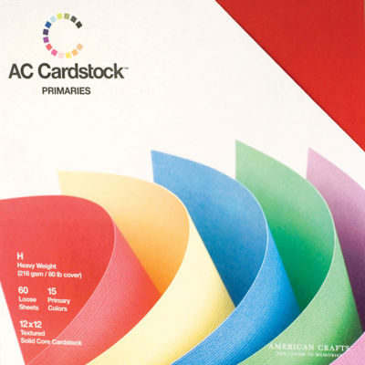 "American Crafts Cardstock Pack 12 X1 2"" 60/Pkg"