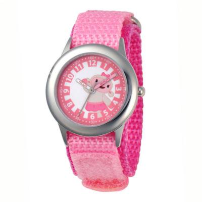 Disney Doc McStuffins Lambie Kids Time Teacher Pink Strap Watch