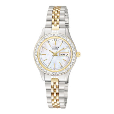 Citizen® Womens Two-Tone Stainless Steel Bracelet Watch EQ0534-50D
