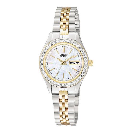 Citizen Quartz Womens Two Tone Bracelet Watch - Eq0534-50d
