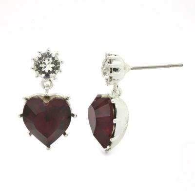 Sparkle Allure Heart Stud Earrings